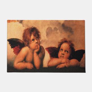 Raphael Angelic Cherub Art Doormat