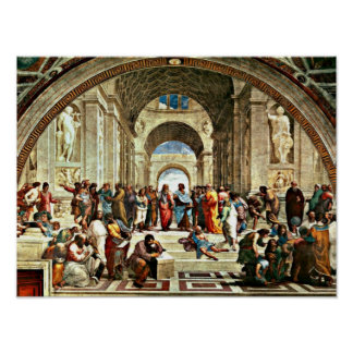 Raphael art - School of Athens - Poster