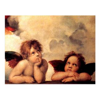 Raphael Cherubs Sistine Madonna Postcard
