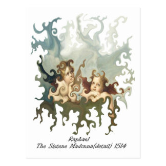 Raphael Detail of the Sistene Madonna Postcard