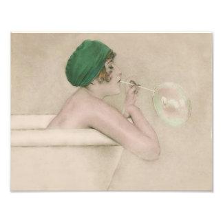 "Raphael Kirchner 1916 ""Bubbles"" Vintage Print"