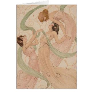 Raphael Kirchner Blank Note Card - Mayflyes