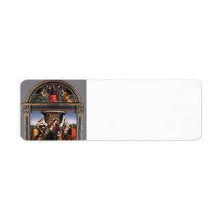 Raphael- Madonna and Child Enthroned with Saints Return Address Label