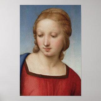 Raphael Madonna Goldfinch (detail) Fine Art Poster