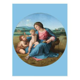 Raphael Renaissance Art Alba Madonna Postcard