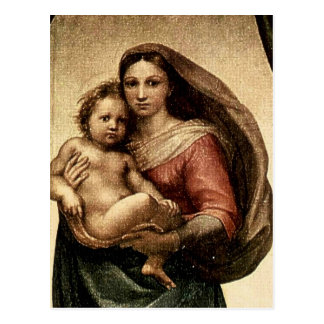 Raphael s Sistine Madonna Detail circa 1513 Post Card