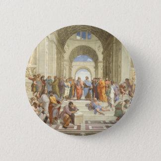 Raphael's The School of Athens 6 Cm Round Badge