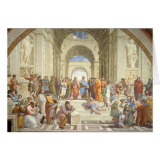 Raphael's The School of Athens Card