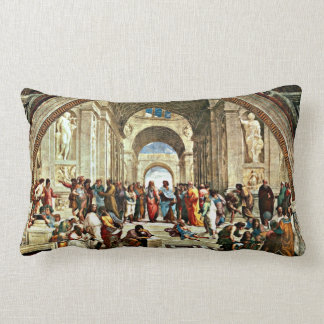 Raphael: School of Athens painting Lumbar Cushion