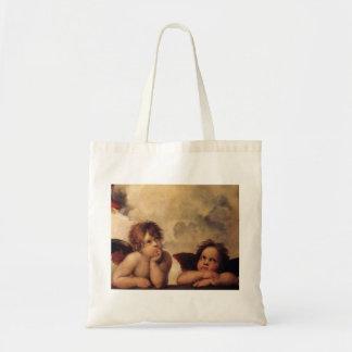 Raphael,Sistine Cherub Canvas Bags