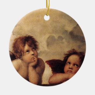 Raphael,Sistine Cherub Round Ceramic Decoration