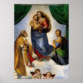 Raphael Sistine Madonna Poster