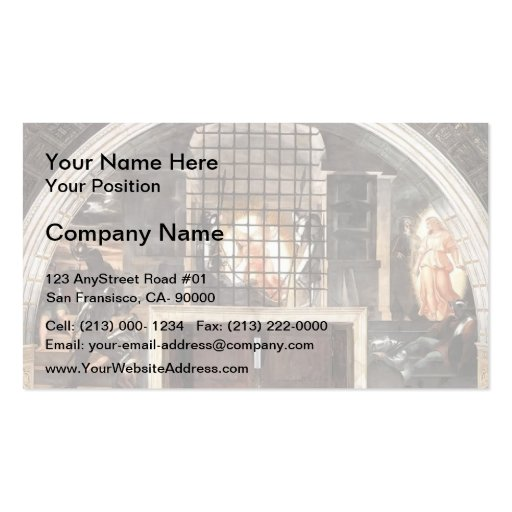 Raphael: The Liberation of St. Peter Business Card Templates