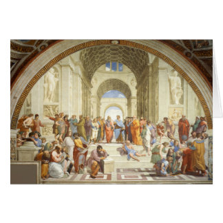 Raphael - The school of Athens 1511 Card