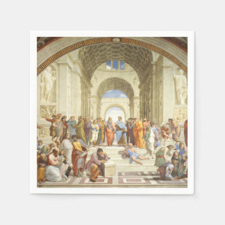Raphael - The school of Athens 1511 Disposable Serviettes