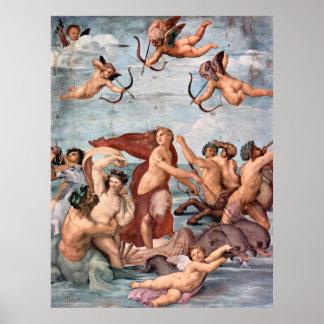 RAPHAEL - Triumph of Galatea 1512 Poster