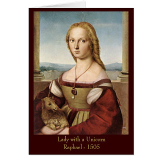 Raphael's Lady with a Unicorn Greeting Card