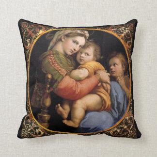 Raphael's Madonna  Throw Pillow