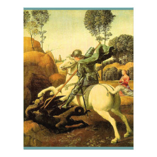 "Raphael's ""St. George and the Dragon"" (circa 1505) Full Color Flyer"