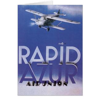 Rapid Azur Greeting Card