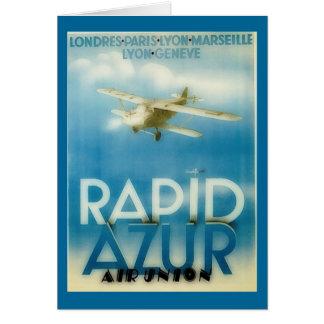 rapid azur - vintage travel card