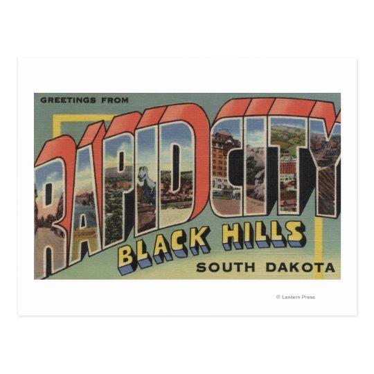 Rapid City, South Dakota - Large Letter Scenes Postcard