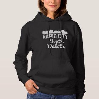 Rapid City South Dakota Skyline Hoodie