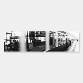 Rapid-transit railway Berlin black Weis photograph Bumper Stickers