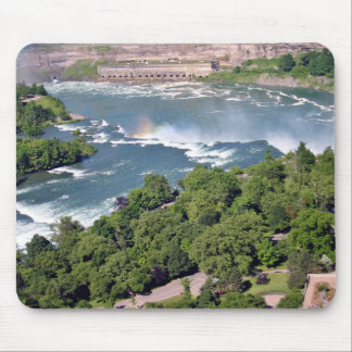 Rapid water down the falls mousepads