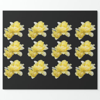 Raping paper with yellow flower print.