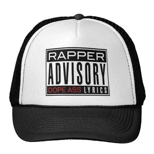 RAPPER ADVISORY HAT