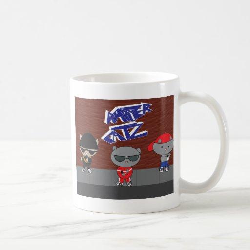 Rapper Cat Group Mug