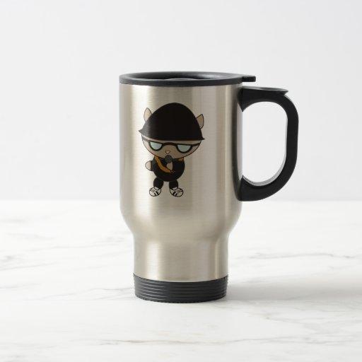 Rapper Cat in Bell Hat Coffee Mug