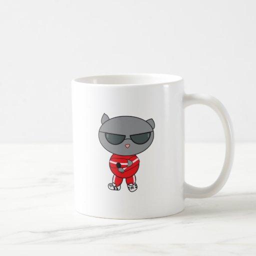 Rapper Cat in Track Suit Mugs