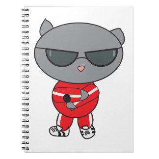 Rapper Cat in Track Suit Notebooks