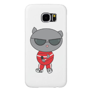 Rapper Cat in Track Suit Samsung Galaxy S6 Cases