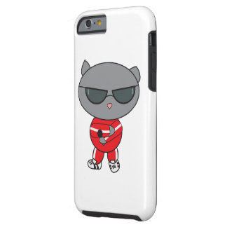 Rapper Cat in Track Suit Tough iPhone 6 Case