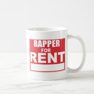 Rapper For rent Classic White Coffee Mug