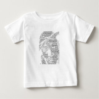 Rapper hip-hop word graffiti sketch Products Baby T-Shirt