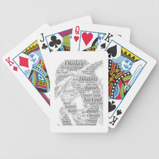 Rapper hip-hop word graffiti sketch Products Bicycle Playing Cards