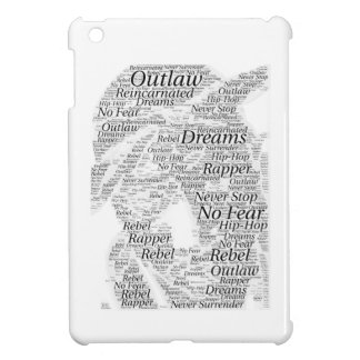 Rapper hip-hop word graffiti sketch Products Cover For The iPad Mini