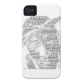 Rapper hip-hop word graffiti sketch Products iPhone 4 Case-Mate Case