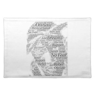 Rapper hip-hop word graffiti sketch Products Placemat