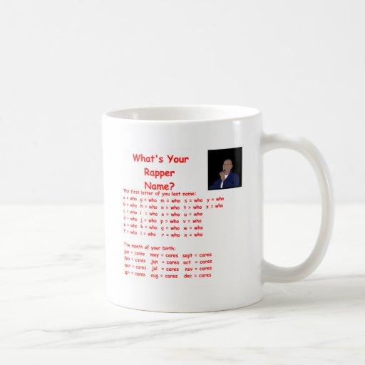 rapper name coffee mug