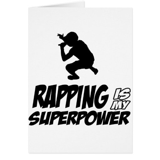 Rapping hip hop designs cards