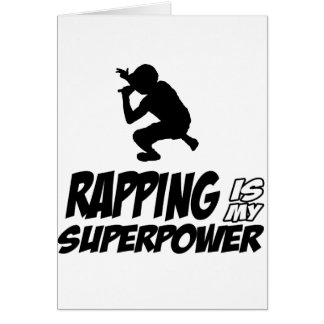 Rapping hip hop designs greeting card