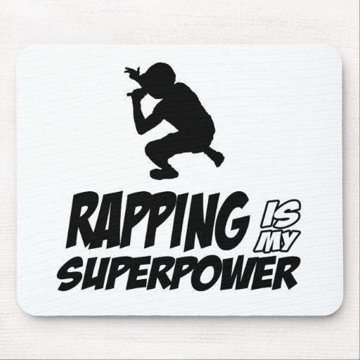 Rapping hip hop designs mousepads