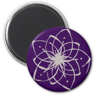 < Rapping it comes and dyes the snowflakes >Flower 6 Cm Round Magnet