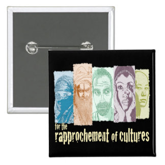 Rapprochement of cultures. 15 cm square badge