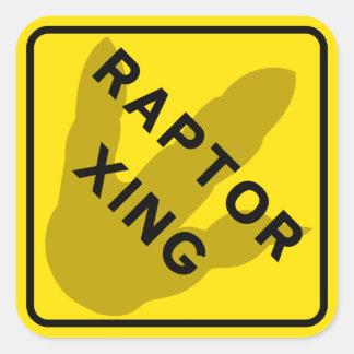 Raptor Crossing Sticker